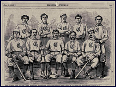 1869 Cincinnati Red Stockings illustration. Click to enlarge.