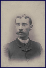 Close-up portrait of Charlie Ferguson of the Philadelphia Phillies, circa 1885. Click to enlarge.