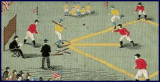 Postcard depiction of early Baseball game. Click to enlarge.