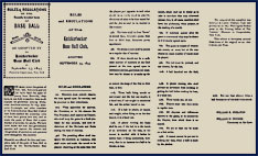 The twenty original Knickerbocker Rules of Baseball of 1845. Click to enlarge.