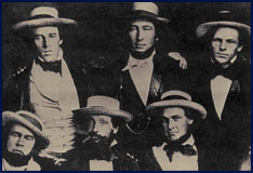 A photo purported to be of the New York Knickerbockers Baseball Club circa 1847. Click to enlarge.