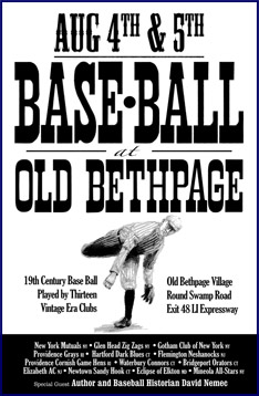 Old Bethpage Base-Ball Poster.. Click to enlarge.