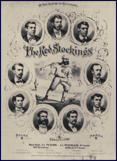 Cincinnati Red Stockings Polka Sheet Music photo. Click to enlarge.